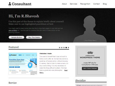 Consultant WordPress Business Theme