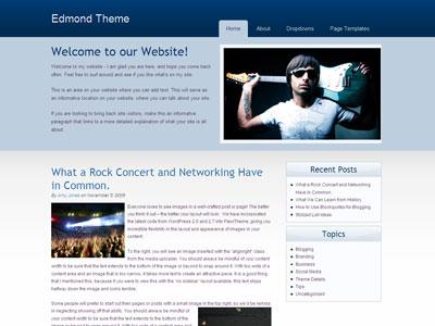 Edmond Web 2.0 WordPress Theme