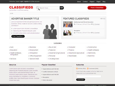 Classifieds Wordpress Theme | Wordpress Classified Ad Theme with ...