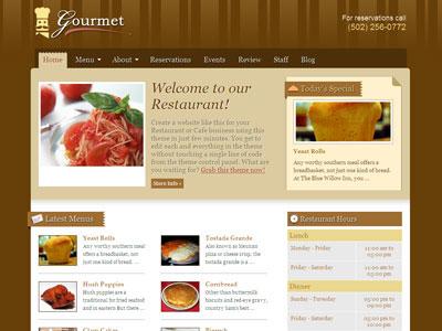 Gourmet WordPress Coffee Shop Theme