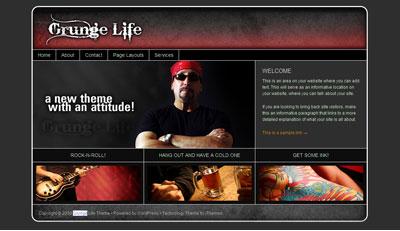 Grunge Life WordPress Tattoos Theme