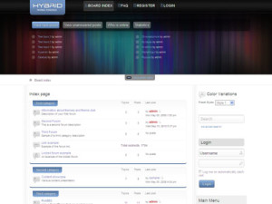 Hybrid phpBB3 Template | SEO Optimized Joomla Forum Integration Template