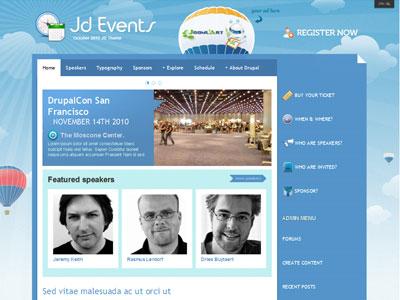 JD Events Drupal Conferences Theme