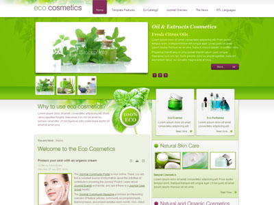 JM Eco Cosmetics Joomla Template