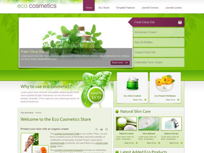 jm eco cosmetics store joomla template with virtuemart component, Powerpoint templates