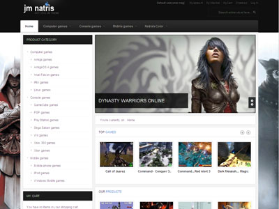 JM Natris Magento Game Shop Theme