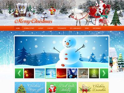 JV Merry Christmas Joomla Template 2010