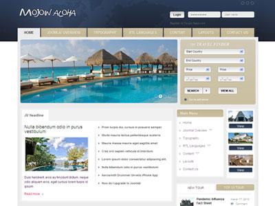 JV Mojow Joomla Travel Portal Template