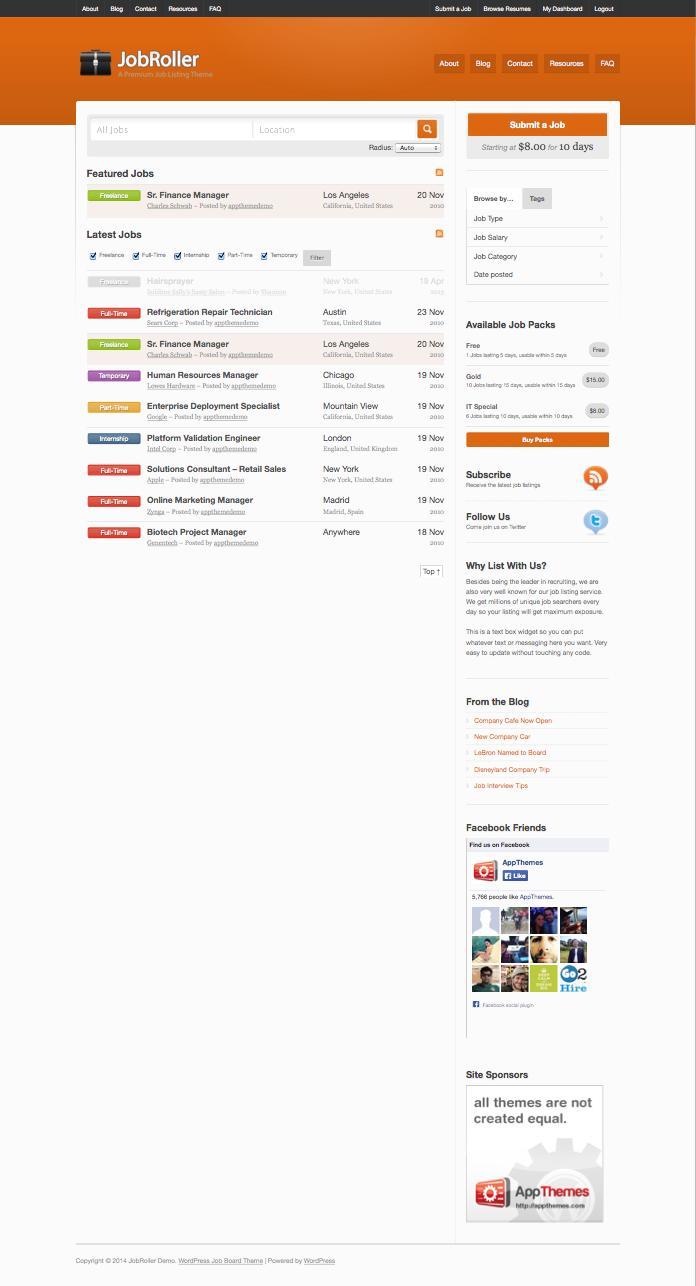 JobRoller WordPress Jobs Portal Theme