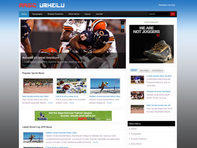 Magic Urheilu Joomla Sports Template