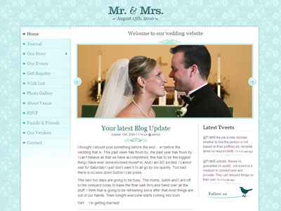 Mr & Mrs WordPress Marriage Theme