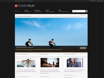 PowerPlay Joomla SEO Business Template