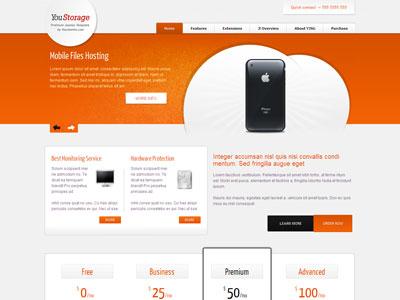 YouStorage Joomla Web Hosting Template