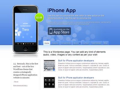 iPhone App WordPress Rotating Theme