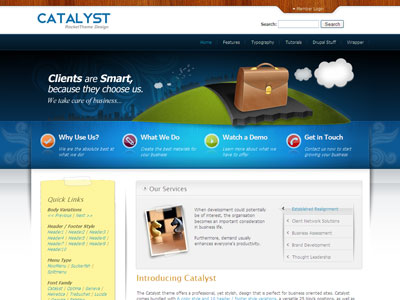 Catalyst Drupal Professional Theme