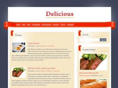 Delicious WordPress Restaurants Theme
