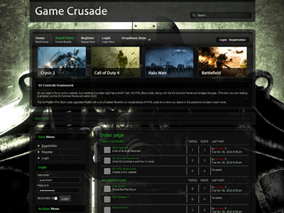 Game Crusade PhpBB3 Template