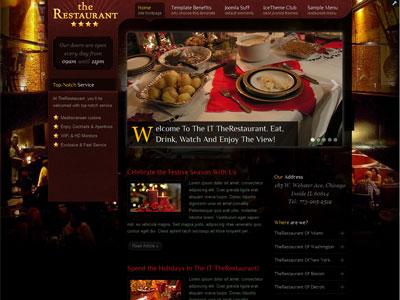 IT TheRestaurant Joomla Coffee Shops Template