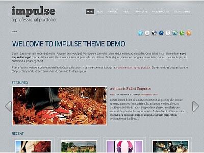 Impulse WordPress Portfolio Theme
