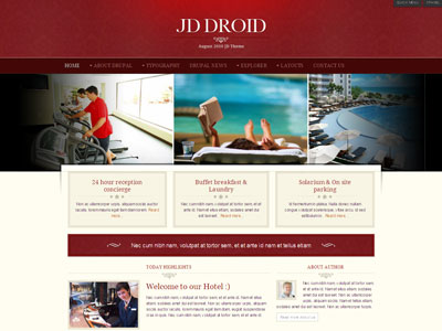 JD Droid Drupal Hotel Template