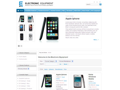 JM Electronic Equipment Joomla Template