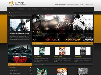 JM Epidio Magento PC Games Store Theme