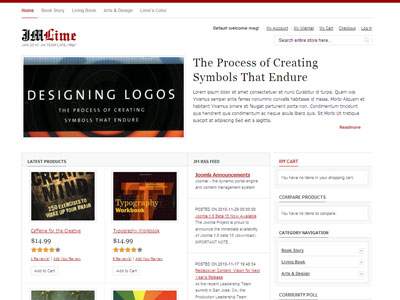 Jm Lime Magento Ecommerce Theme For Art Designing Logos