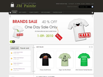 JM Painite Magento Apparel Store Theme