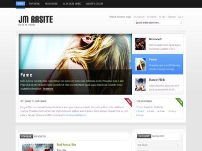 JM Rasite Magento Music Store Theme