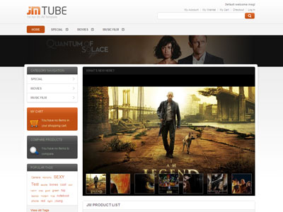 JM Tube Magento Movie Store Theme