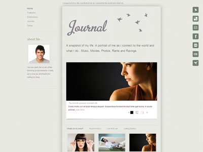 Journal Joomla Template | Joomla Personal Blog Template with ...