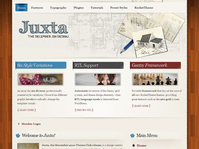 Juxta WordPress  Gantry Framework Theme