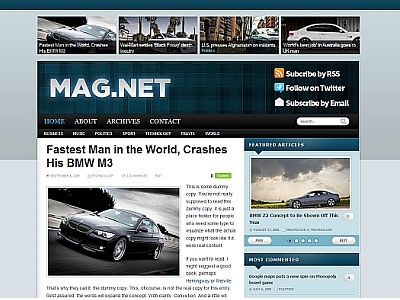 Magnet WordPress Blog Theme