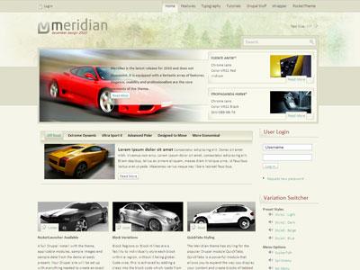 Meridian Drupal Car Sports Theme