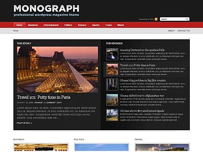 Monograph 1.3 WordPress Magazine Style Theme