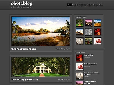 PhotoBlog WordPress Photographers Theme