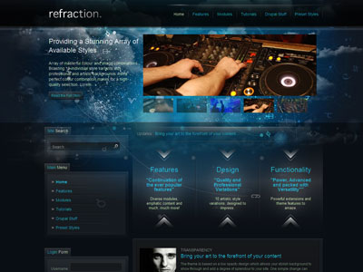Refraction Drupal Music Theme