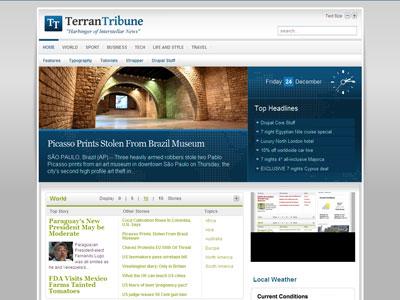 TerranTribune 1.5 Drupal Magazine Theme