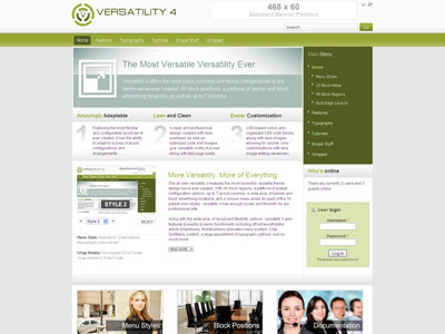 Versatility 4 Drupal Professional Theme