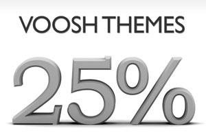 VooshThemes 25 Discount Coupon Code