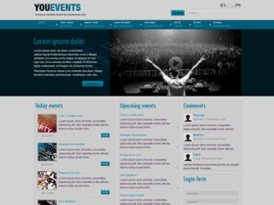YouEvents Joomla Template for Clubbing with HD Flash Video Player | Joomla Events Template