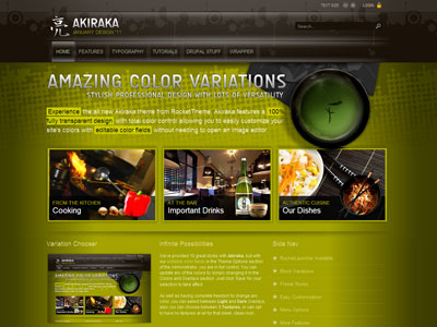 Akiraka Drupal  Transparent Theme