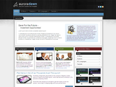 Aurora Dawn WordPress Business Theme