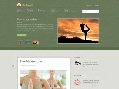 Cultivate Joomla Yoga Template