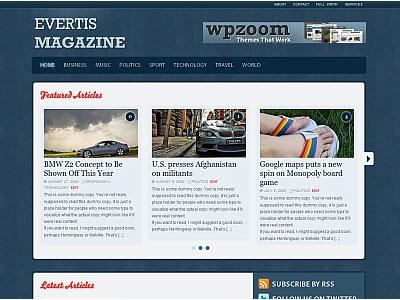 Evertis Magazine WordPress Theme
