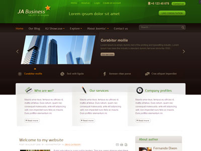JA Business Template for Joomla 1.6