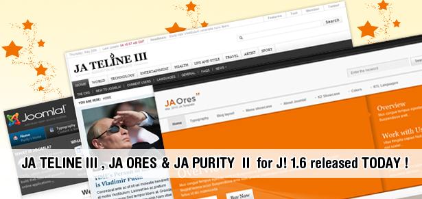 JA Purity II Free, JA Teline III & JA Ores 1.6 Template