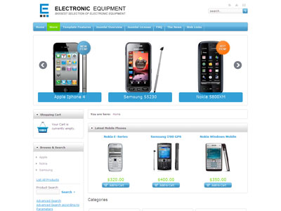 JM Electronic Equipment Store Joomla Template | Joomla Mobile Site ...