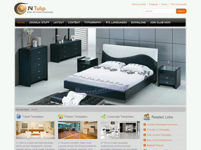 JV Tulip Joomla Furniture Store Template