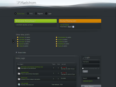 Maelstrom phpBB3 Style Forum Template